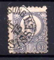 Hungary 1871 25kr violet fine used SG15 WS20186