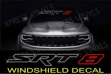 SRT-8 WINDSHIELD VEHICLE VINYL DECAL STICKER BANNER OUTLINE SILVER / RED GRAPHIC