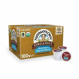 Newman's Own Organics Special Blend, Medium roast k-cups, 100 count (A,B condit)