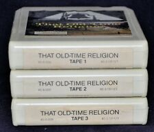 """(3) 8-Tracks """"That Old-Time Religion"""" Used TESTED 96 Classics 1975 Various Art."""