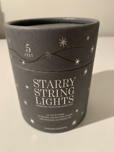 RESTORATION HARDWARE Starry String Lights Silver 5 Ft. NEW