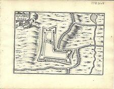 Antique map, Maubert-Fontaine