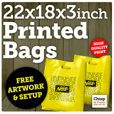 More details for custom print personalised carrier bags | large 22x18x3