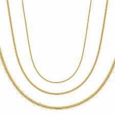 Damen Herren Schlangenkette Kette 24 Karat Gold vergoldet gelbgold K6072D1