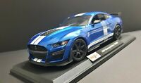 1/18 Diecast Maisto 🇺🇸 2020 Ford Mustang Shelby GT500 * Blue/ White  Stripes*