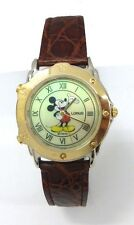 Lorus' Disney Mickey Mouse Melody Watch with Light in 2-Tone Case/leather Band