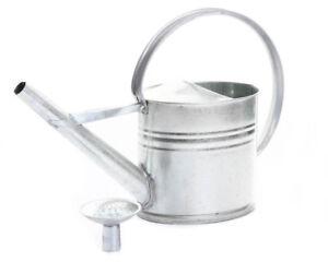 Gießkanne Zinkgießkanne Metall Blechkanne 40cm Höhe verzinkt mit Gießkopf