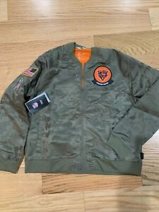 Nike Chicago Bears NFL Football Salute to Service AT7865-222 Jacket Women's L