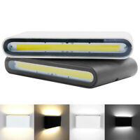 1/10x 6W 12W COB LED Wall Light Up & Down Sconce Lamp Outdoor Light Fixture HRM