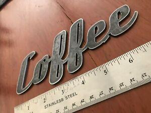 coffee metal sign industrial