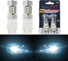 LED Light 80W 4157 White 6000K Two Bulbs Front Turn Signal Replace Upgrade Lamp