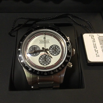 Steinhart Ocean One Vintage Chronograph Luxury Swiss Automatic Watch 108-0632