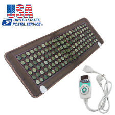 �Us】Natural Jade Stones Negative Ions Fir InfraRed Heating Multi Energy Mat Pad