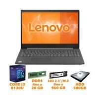 "NOTEBOOK COMPUTER PORTATILE LENOVO LENOVO V15-IKB 15,6"" I3 8130U NVME SSD W10-"