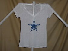 DALLAS COWBOYS  white Burnout style T-Shirt / Top   Womens Large   NWT