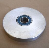 """IDLER ALUMINUM PULLEY 1/2"""" WIDE, 3.694""""' OD, 5/8"""" BORE FLAT WITHOUT FLANGES"""