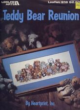 Teddy Bear Reunion Cross Stitch Pattern Leaflet