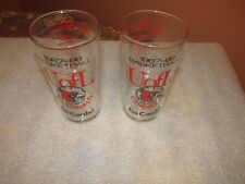 UNIVERSITY OF LOUISVILLE (2) Vintage Collectible Basketball 87-88 Glasses (COOL)