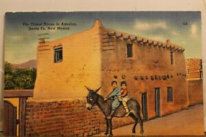 New Mexico NM Santa Fe Oldest House USA Postcard Old Vintage Card View Standard