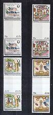 Gibraltar 1981 postfrisch Stegpaare MiNr. 418-421  Franziskanerkloster