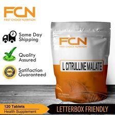 L- Citrulline Malate 120 x 500mg Tablets /  Pre Workout / Pump / Muscle Builder