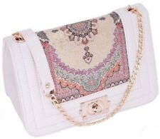 Vintage Style Clutch Bags Cream Turkish Kilim Carpet Bag Ladies Antique Handbag