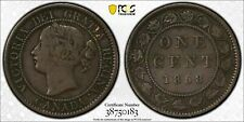 1858 Canada Large Cent PCGS VF25 Lot#G188 Key Date!