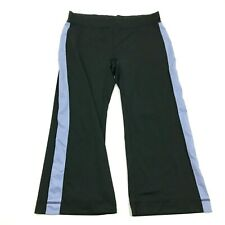LUCY Capri Leggings Size S Small Black Cropped Pants Pull On Black Blue Yoga Gym
