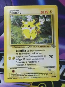 Pikachu - 60/64 - Common - Jungle Pokemon - Italian - NM