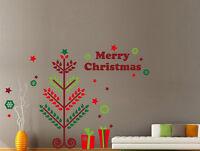 Huge Merry Christmas tree Gift Xmas Vinyl Wall Stickers Decal UK 229