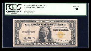 DBR 1935-A $1 North Africa Silver STAR Fr. 2306* PCGS 30 Serial *68379207A