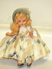 Nancy Ann Storybook Doll Blinkng Eyes Vintage Original Pink Floral Dress