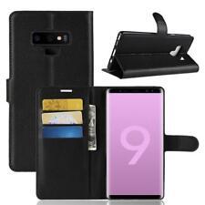 Funda para el Samsung Galaxy Note 9 Libro Cover Wallet Case-s bolsa Negro