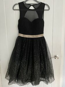 QUIZ Black and Gold Occasion Dress Party Cocktail Prom. Size 6