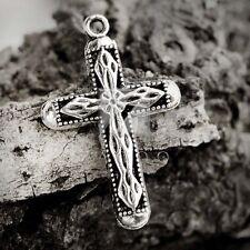 25pcs Lots Metal Charm Pendant Tibetan Silver Jewelry Making Cross 31x20x3mm