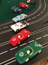 VINTAGE SLOT CAR HOT ROD JALOPY ELDON MARX GILBERT, 2 GT4OS ,& 2 MARX JAGS ?