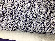 LACE FABRIC BLACK Dress Embroidery Floral Milky Yarn Bridal Wedding Display 120C