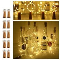 15/20 LED Copper Wire Wine Bottle Cork Battery Xmas Fairy String Lights AU  d6