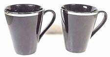 Ten Strawberry Street Studio Ten Black & Platinum Cups Set Of Two