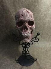 Edgar Allen Poe Real Human Skull Replica Carved By Zane Wylie SIGNED Certificate