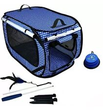 """Pet Fit For Life - Collapsible Portable Cat Carrier Crate - Large 32""""x19""""x19"""" ;"""