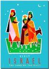 "Retro Travel Poster *FRAMED* CANVAS ART Israel Land of Bible 16""x12"""