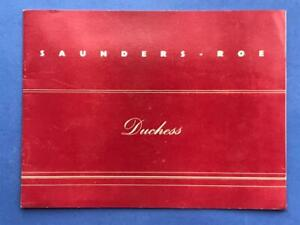 """SAUNDERS - ROE """"DUCHESS"""" JET POWERED FLYING BOAT 1950's PROMOTIONAL BROCHURE."""