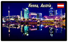 VIENNA, AUSTRIA - SOUVENIR NOVELTY FRIDGE MAGNET - SIGHTS / FLAG / GIFTS / NEW