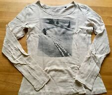 MARC O'POLO Langarm Shirt Longsleeve Natur Weiß Grau Gr. S 36