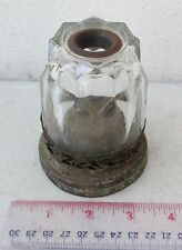 SUPER RARE! 19th Century Brass Opium Lamp Original Glass