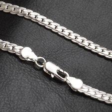 """5mm 925 Versilbert Halskette Kette 20 """"zoll Mode Männer Frauen"""