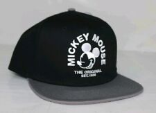 7c6286da5de93 Disney Mickey Mouse x Neff Black Gray Adjustable Flatbill Unisex Snapback  Hat