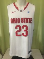 Ohio State Buckeyes Nike Men's White Basketball Jersey #23 Size Medium Dry Fit