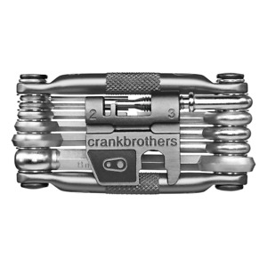 Silver Crank Brothers M17 Bike Multi Tool, 17 Functions / Crankbrothers